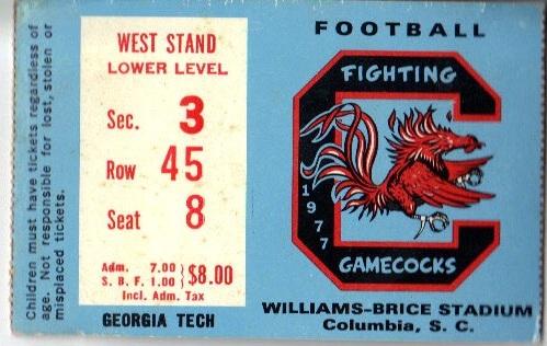 1977-09-10 - Georgia Tech at South Carolina