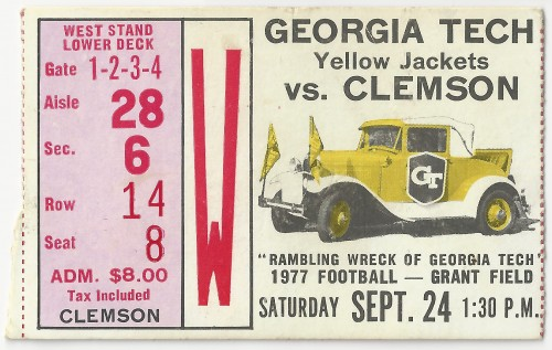1977-09-24 - Georgia Tech vs. Clemson