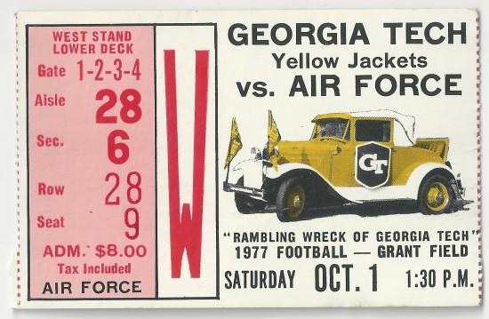 1977-10-01 - Georgia Tech vs. Air Force