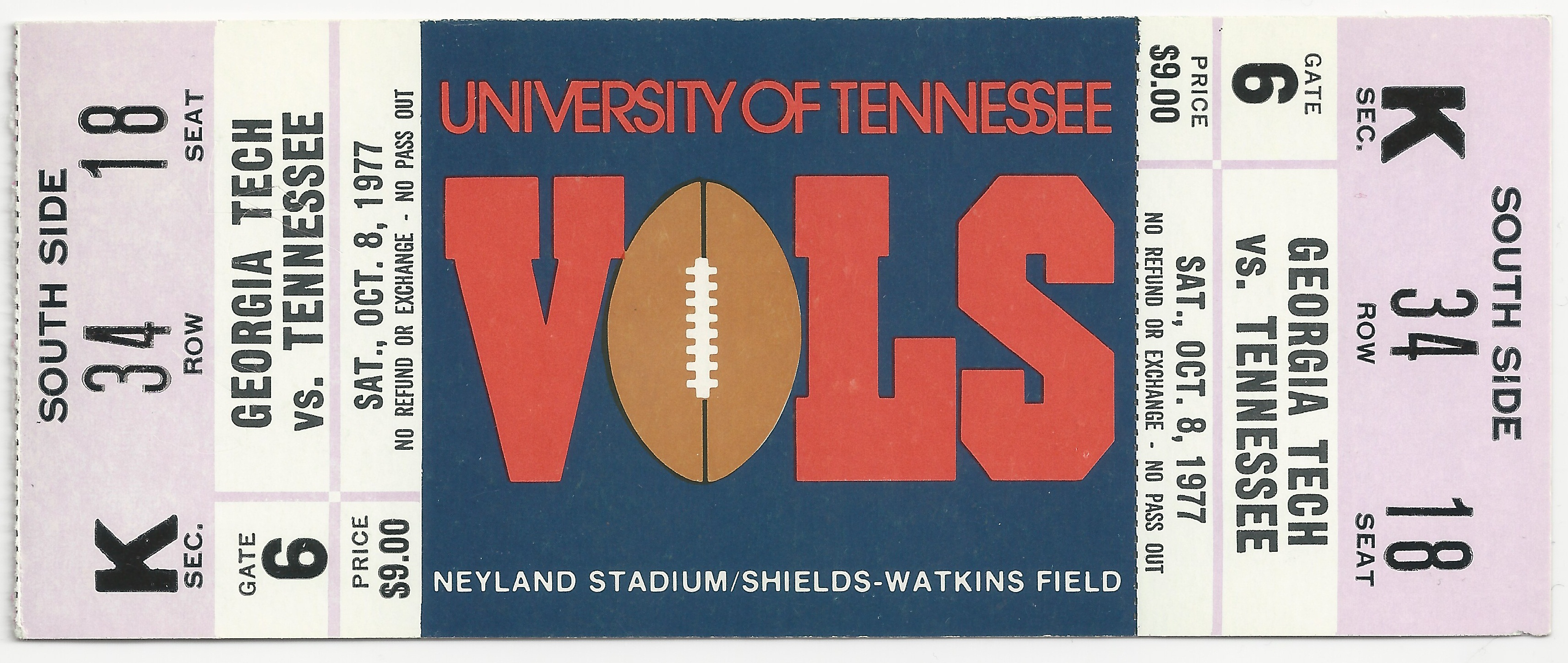1977-10-08 - Georgia Tech at Tennessee - Full