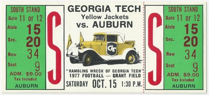 1977-10-15 - Georgia Tech vs. Auburn