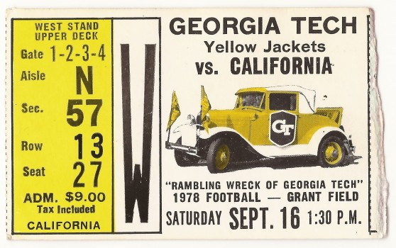 1978-09-16 - Georgia Tech vs. California