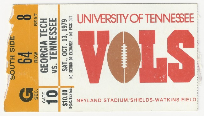 1979-10-13 - Georgia Tech at Tennessee