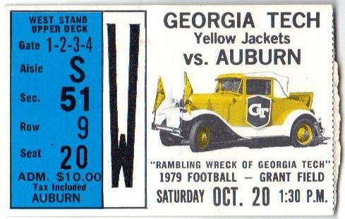 1979-10-20 - Georgia Tech vs. Auburn