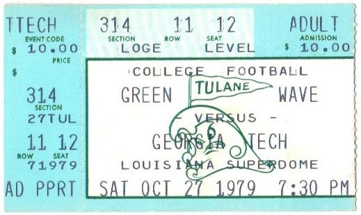 1979-10-27 - Georgia Tech at Tulane
