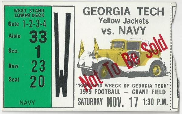 1979-11-17 - Georgia Tech vs. Navy
