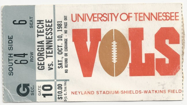 1981-10-10 - Georgia Tech at Tennessee