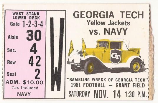 1981-11-14 - Georgia Tech vs. Navy