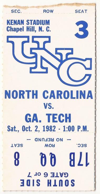 1982-10-02 - Georgia Tech at North Carolina