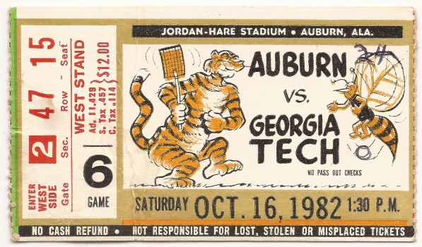 1982-10-16 - Georgia Tech at Auburn