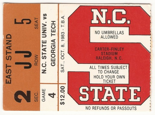 1983-10-08 - Georgia Tech at North Carolina State
