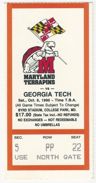 1990-10-06 - Georgia Tech at Maryland