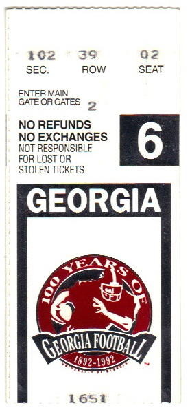 1992-11-28 - Georgia Tech at Georgia