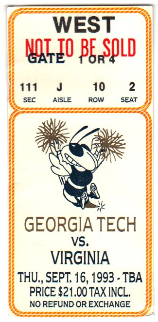 1993-09-16 - Georgia Tech vs. Virginia