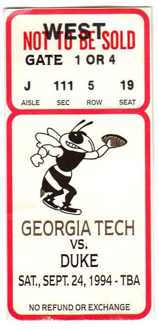 1994-09-24 - Georgia Tech vs. Duke