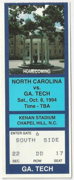 1994-10-08 - Georgia Tech at North Carolina