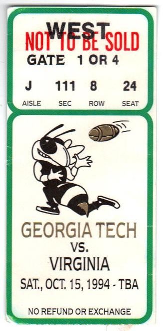 1994-10-15 - Georgia Tech vs. Virginia