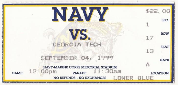 1999-09-04 - Georgia Tech at Navy - Box Office