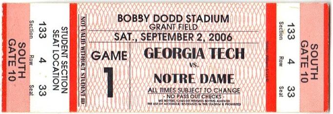 2006-09-02 - Georgia Tech vs. Notre Dame - Student