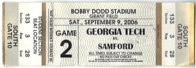 2006-09-09 - Georgia Tech vs. Samford - Student