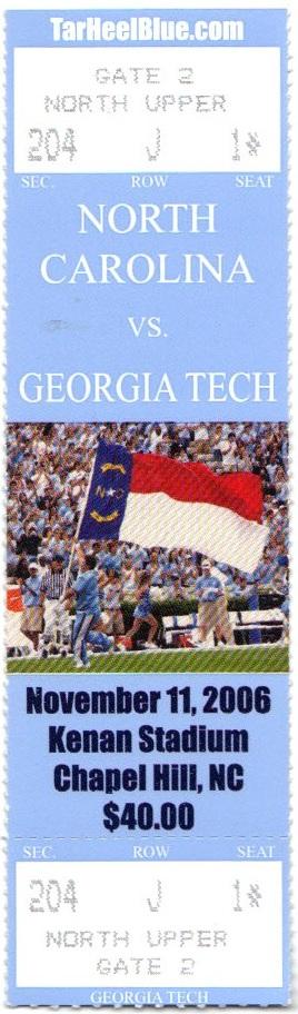 2006-11-11 - Georgia Tech at North Carolina