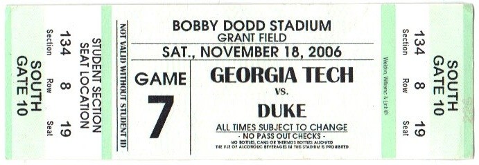 2006-11-18 - Georgia Tech vs. Duke - Student
