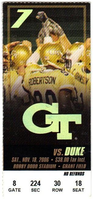 2006-11-18 - Georgia Tech vs. Duke