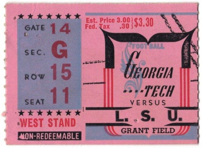 Georgia Tech vs. Louisiana State - 1943
