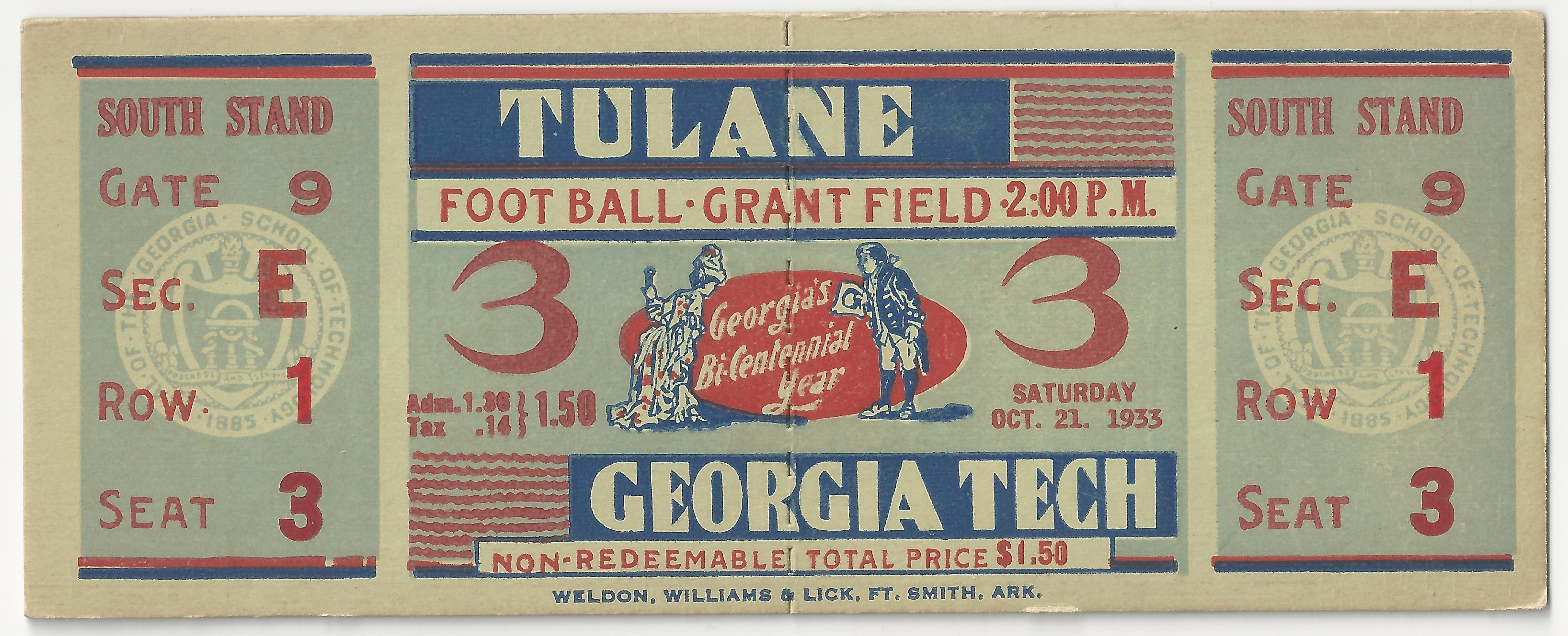 Georgia Tech vs. Tulane - 1933