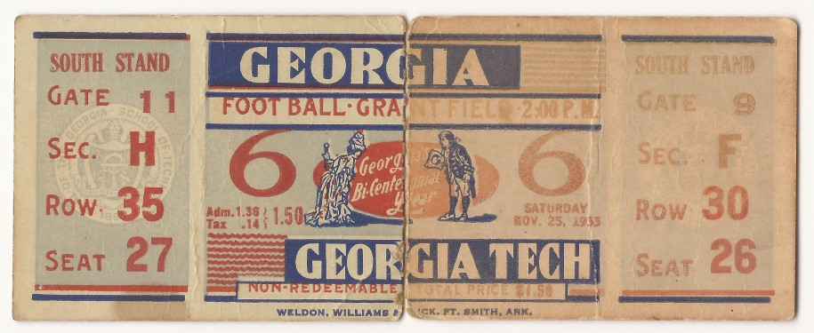 1933-11-25 - Georgia Tech vs. Georgia