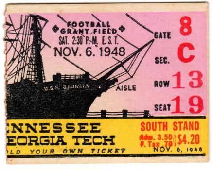 1948-11-06 - Georgia Tech vs. Tennessee