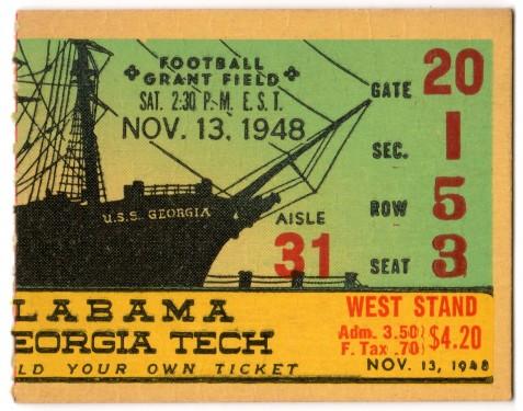 1948-11-13 - Georgia Tech vs. Alabama