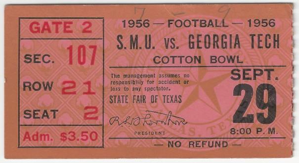 1956-09-29 - Georgia Tech at Southern Methodist