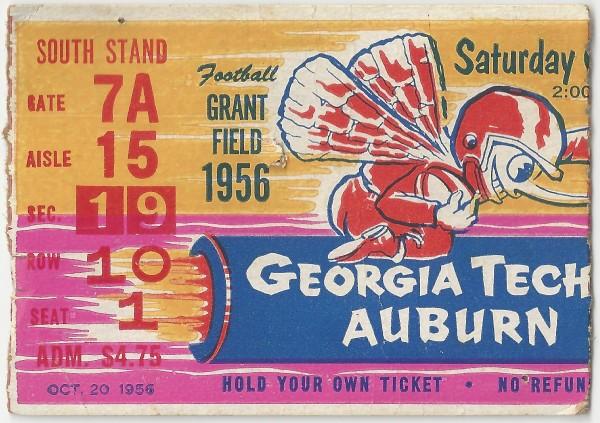 1956-10-20 - Georgia Tech vs. Auburn