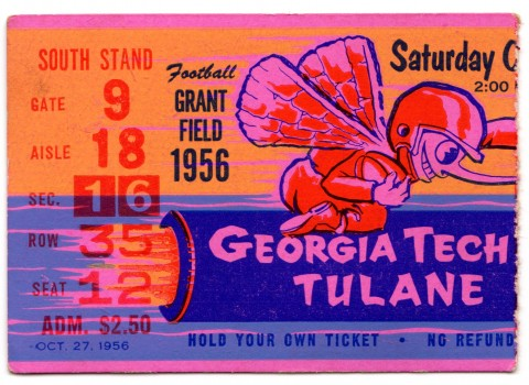 1956-10-27 - Georgia Tech vs. Tulane