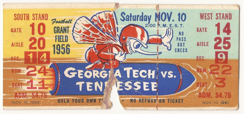 1956-11-10 - Georgia Tech vs. Tennessee
