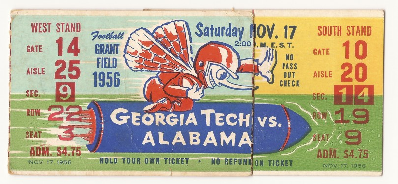 1956-11-17 - Georgia Tech vs. Alabama