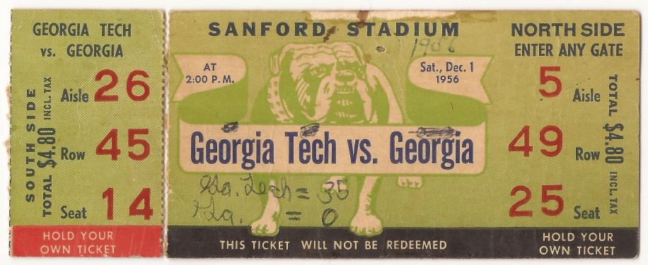 Georgia Tech at Georgia - 1956