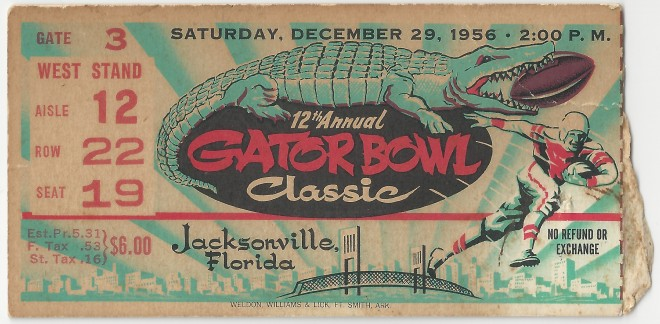 1956-12-29 - Georgia Tech vs. Pittsburgh - Gator Bowl