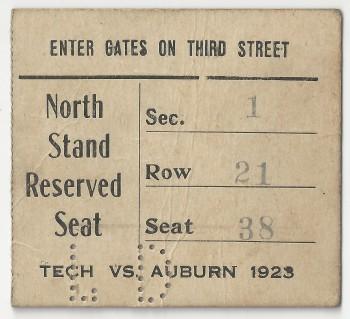 Georgia Tech vs. Auburn - 1923