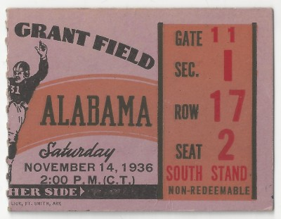 Georgia Tech vs. Alabama - 1936