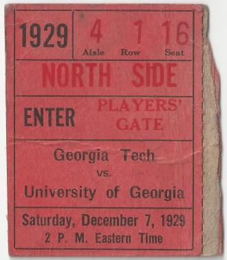 Georgia Tech at Georgia - 1929