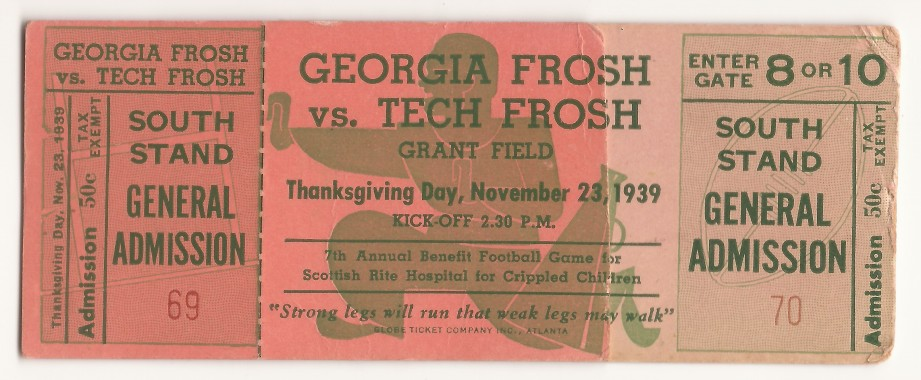 1939-11-23 - Georgia Tech Freshmen vs. Georgia Freshmen
