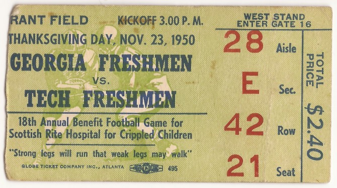 1950-11-23 - Georgia Tech Freshmen vs. Georgia Freshmen