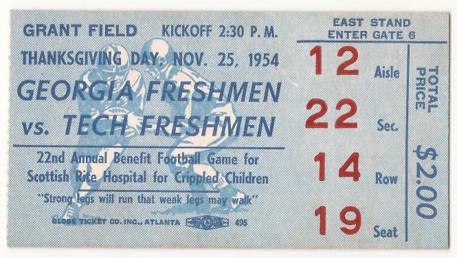 1954-11-25 - Georgia Tech Freshmen vs. Georgia Freshmen