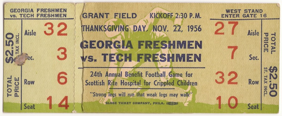 1956-11-22 - Georgia Tech Freshmen vs. Georgia Freshmen