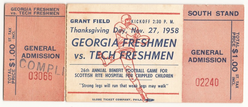 1958-11-27 - Georgia Tech Freshmen vs. Georgia Freshmen