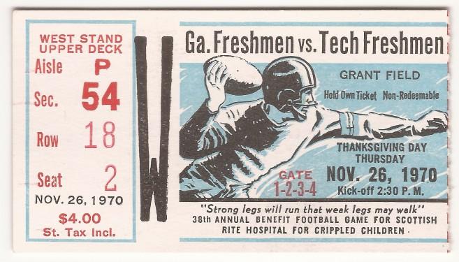 1970-11-26 - Georgia Tech Freshmen vs. Georgia Freshmen
