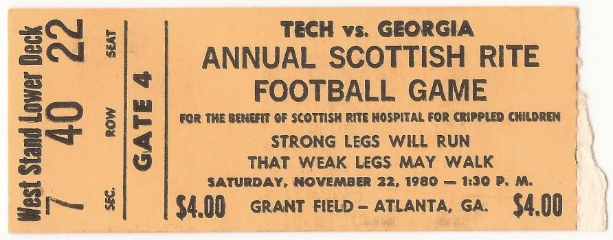 1980-11-22 - Georgia Tech Freshmen vs. Georgia Freshmen