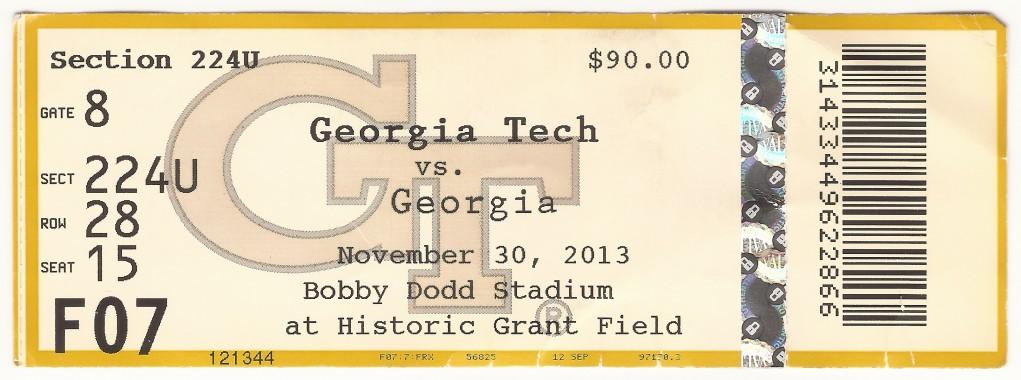 2013-11-30 - Georgia Tech vs. Georgia